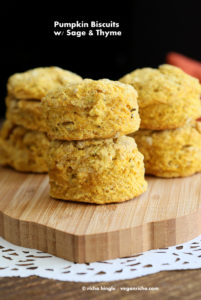Pumpkin Bsicuits with Sage and Thyme by Vegan Richa